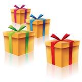 Подарочные коробки картона иллюстрация штока