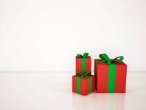 Подарочные коробки на белой предпосылке, представленном 3d иллюстрация вектора