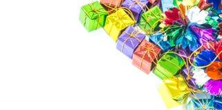 Подарочные коробки предпосылки Стоковые Фото
