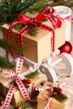 Подарочные коробки рождества Стоковые Изображения
