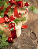 Подарочные коробки рождества Стоковое Изображение