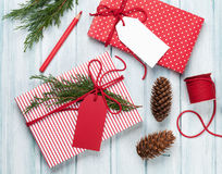 Подарочные коробки рождества Стоковая Фотография RF