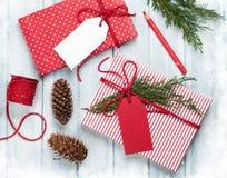 Подарочные коробки рождества Стоковые Фото