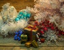 Подарочные коробки рождества Стоковое фото RF