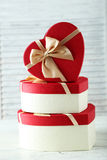 Подарочные коробки сердца Стоковые Фото