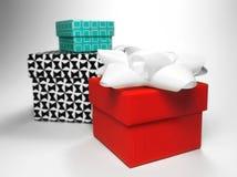 Подарочные коробки, съемка студии Стоковая Фотография