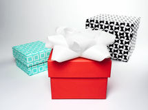Подарочные коробки, съемка студии Стоковые Изображения