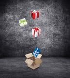 Подарочные коробки Стоковые Изображения