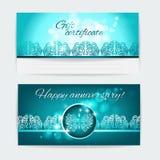 Подарочный купон Шаблон печати вектора флористического дизайна Стоковое Изображение