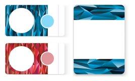 Подарочный сертификат визитной карточки полигона Стоковое фото RF