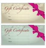 Подарочный сертификат Стоковая Фотография