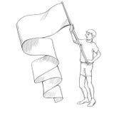 Податель флага Стоковые Фото