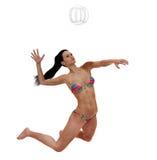 Подача волейбола Стоковые Изображения RF