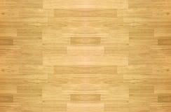 Пол баскетбольной площадки клена твёрдой древесины осмотренный сверху Стоковое Изображение