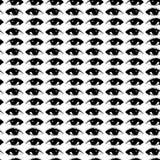 Подбитые глазы вектора на белой предпосылке Стоковые Фотографии RF