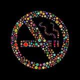 По борьбе с курением икона кампании Стоковое фото RF