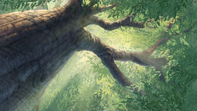 Под большим деревом Стоковое Изображение RF