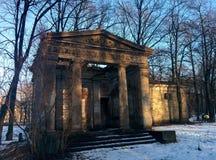 Подвал на кладбище Стоковое Изображение