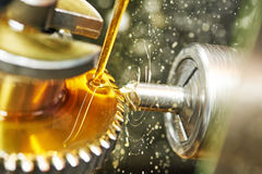 Подвергать механической обработке колеса шестерни зуба стоковое фото