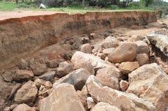 Подвергли действию слои почвы в реке Стоковое Изображение