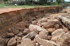 Подвергли действию слои почвы в реке Стоковые Изображения