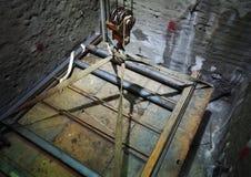 По вертикали строительная площадка 6 вала Стоковые Изображения RF