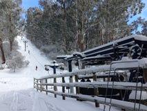 Подвесной подъемник Snowy Стоковое Изображение
