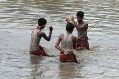 Подвижники принимать 'Ochira Kali' Стоковые Изображения