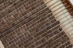 Подвижный деревянный тип система, Китай Стоковая Фотография