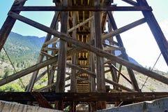 Под висячим мостом над Рекой Fraser 01 Стоковое Изображение