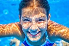 Подводная девушка Стоковые Изображения