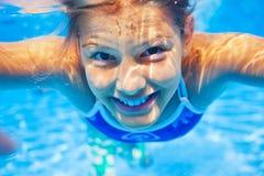 Подводная девушка Стоковая Фотография RF