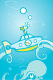 подводная лодка восьминога Стоковое Изображение