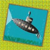 Подводная лодка изображения смешная Стоковая Фотография RF