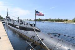 Подводная лодка USS Silvesides военно-морского флота Соединенных Штатов Стоковая Фотография