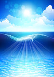 Подводная предпосылка Стоковые Фотографии RF