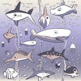 Подводная предпосылка беспорядка моря жизни Стоковое Изображение