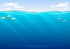 Подводная предпосылка в векторных графиках Стоковые Фото