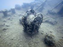 подводная развалина Подводное кораблекрушение Стоковая Фотография RF
