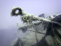 подводная развалина Подводное кораблекрушение Стоковая Фотография