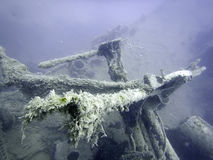 подводная развалина Подводное кораблекрушение Стоковое Изображение