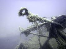 подводная развалина Подводное кораблекрушение Стоковое фото RF