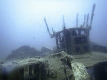 подводная развалина Подводное кораблекрушение Стоковые Изображения RF