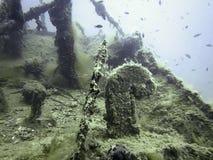 подводная развалина Подводное кораблекрушение Стоковые Фотографии RF