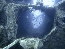 подводная развалина Подводное кораблекрушение Стоковые Изображения