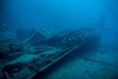 подводная развалина Стоковое Изображение