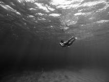 Подводная съемка девушки Стоковое фото RF
