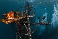 Подводная съемка развалины корабля Стоковые Фотографии RF