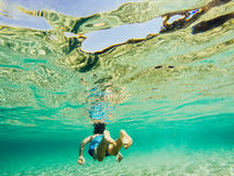 Подводное исследование природы Стоковое Изображение