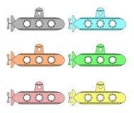 Подводные лодки вектора Стоковое Изображение